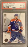 2016 2017 Jesse Puljujarvi AUTO PSA 10 UPPER DECK SP AUTHENTIC SPA ROOKIE RC GEM