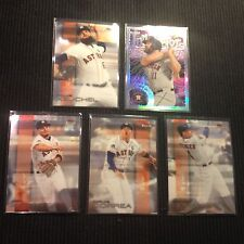 2016 TOPPS FINEST HOUSTON ASTROS MASTER TEAM SET 6 CARDS  WITH INSERTS