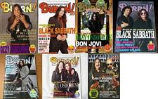 OZZY OSBOURNE on COVER LOT of 7 Japan Rock Magazines RARE