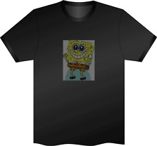 Sonido activado Spongebob Squarepants intermitente LED Panel camiseta pequeña S Club