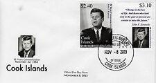 Isole Cook 2013 FDC John F. Kennedy 50 ANNO COMMEMORATIVE 2) / Set Copertura JFK noi