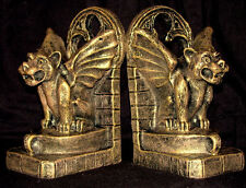 GARGOYLE WINGED BOOKEND GOTHIC DECOR BOOKENDS 14016