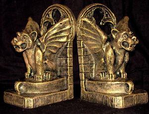 GARGOYLE WINGED BOOKEND GOTHIC DECOR BOOKENDS 14016