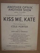 song sheet AN OTHER OP NIN ANOTHER SHOW Kiss me Kate, Cole Porter
