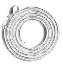 """New 3mm Sterling Silver Plated Round Snake Necklace Lobster Claw Pick 20"""", 30"""""""