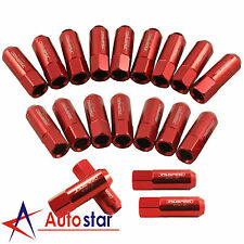 20Pcs Red 60MM M12X1.25 Aluminum Extended Wheel Rim Lug Nuts For Infiniti Subaru