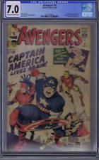 Avengers #4 Marvel 1964 (CGC 7.0) 1st Silver Age Captain America