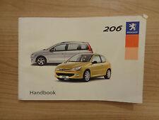 Peugeot 206 Owners Handbook/Manual 02-04