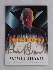 X-MEN THE MOVIE PATRICK STEWART AS PROFESSOR XAVIER AUTOGRAPH CARD IN GOLD AUTO