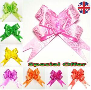 50 Pull Bows 30mm Wedding Car Gift Wrap Ribbon Florist WATERPROOF  party Decorat