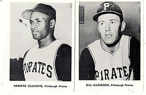 1960s Pittsburgh Pirates Picture Pack Photo Set Roberto Clemente Mazeroski +