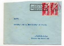 "STORIA POSTALE 1949/52 TRIESTE ""A"" POSTA AEREA COPPIA L.10 Z/1719"