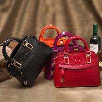 Women's Elegant Bag Faux Leather Crocodile Handbag Party Bag Satchel Tote