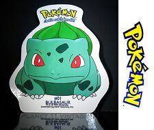Vintage 1999 Nintendo Pokemon Bulbasaur #01 vinyl sticker + FREE BONUS Pikachu