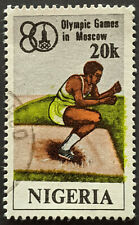 Stamp Nigeria 1980 20k Olympic Games Moscow Used