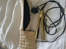 ghd gold hair straighteners and case with heat mat