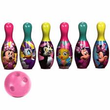 Disney Minnie Bowling Play set Kids Girls Birthday Christmas Gift Toy Pins Ball