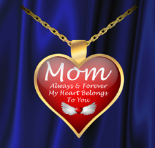 Mom Always Forever Heart Necklace - Great Gift For Mom! - FREE Shipping!