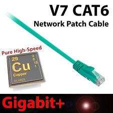 V7 14ft Green CAT6 Network Cable Ethernet Patch Gigabit+ Snagless Design RJ45