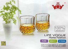 6x 100ML Buvable Verres set Vin Jus Soirée Verrerie Coffret cadeau Whisky Rocher