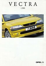 OPEL VECTRA i500 i 500 B Limousine Sport Prospekt Brochure Preisliste 1998 75