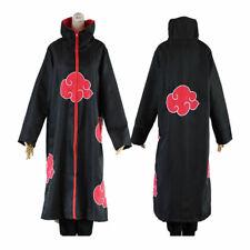 Halloween Anime Naruto Cosplay Costumes Akatsuki Ninja Uniform Cloak HOODED