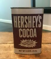 Vintage 1970s 1980s Mid Century 70s 80s Hershey's Cocoa Tin Can 8 oz - USA Made