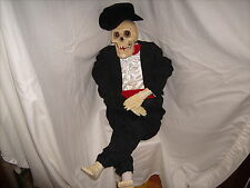 Gemmy Animated 3 1/2 Foot Skeleton w/ Light Up Eyes Halloween Party Prop