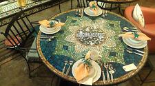 Decorative Hallway Marble Black Dining Table Inlaid Traditional Arts Decor H3972