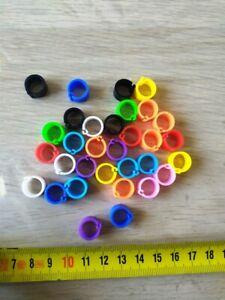 50 Anelli di plastica per uccelli 7mm interno 10mm esterno APRIBILI