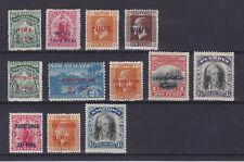 NIUE PENRHYN RAROTONGA 1902-1920, 12 STAMPS, MLH/MNG
