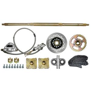 "32"" Go Kart ATV Rear Live Axle Kit Brake Assembly For Drift Trike Go Kart"