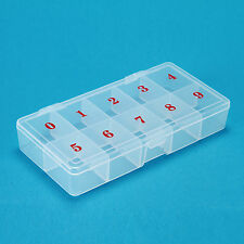 Divided Empty Storage Box Case for Jewelry Nail Art Craft Beads Rhinestones Tips
