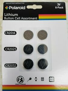 Polaroid Lithium Button Cell Assortment (2016,2025,2032)