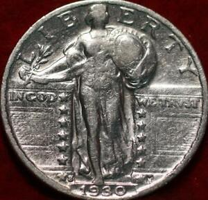 1930-S San Francisco Mint Silver Standing Liberty Quarter