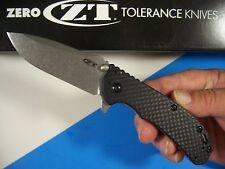 ZERO TOLERANCE usa 0566CF Carbon Fiber HINDERER Spring Assist knife kershaw ZT