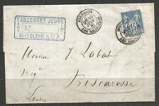 FRANCE. 1882. COMMERCIAL ENTIRE. BORDEAUX LES SALINIERS POSTMARK. TANDONNET JEUN