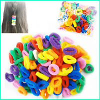 50 Hair Mini Bobbles Ponios Kids Ponytail Band Endless Elastic Snag Free Candy