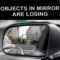 2Pcs Car Truck Window Vinyl White Decal Sticker-Objects In Mirror Are Losing TR