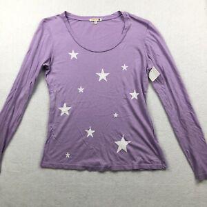 Sundry Purple Star Long Sleeve Shirt Size 1 Small NWOT