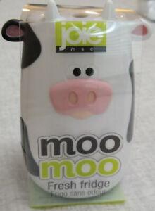 MSC JOIE FRESH FRIDGE COW MOO MOO BLACK WHITE BAKING SODA HOLDER