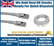 Nouveau CAT6 UTP cordon 1.5 m Gris câbles réseau RJ45 pour réseau RJ45 Plomb UK