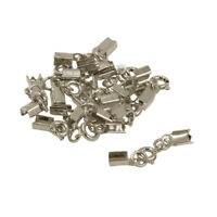 12packs Crimp Cord Ends Clamps Clasps Bronze Clips for Jewellery Making 4mm