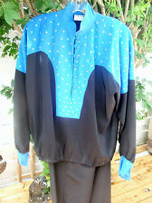 Vintage 80's 2 piece Designer Pant set Size Large Size 14-16