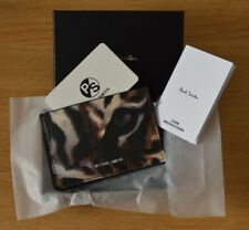 PAUL SMITH Men's black tiger cat wild card case holder wallet