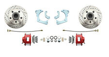 1965-68 Chevy Impala High Performance Disc Brake Kit, Red Powder Coated Calipers