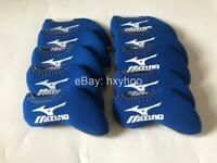 10PCS Golf Iron Headcovers Windows for Mizuno Club Covers Caps Protector Blue