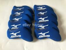 10PCS Golf Iron Headcovers Windows for Mizuno Club Covers Caps Protector Blue