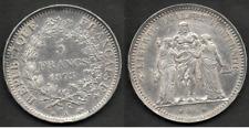 PIECE DE 5 FRANCS ARGENT HERCULE 1873 A.