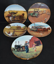 7 Farming the Heartland Danbury Mint Collector Plates 8 1/8""